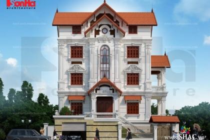 Ngôi biệt thự có kiến trúc 5 tầng kiểu pháp