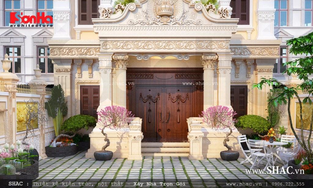 Biệt thự đẹp kiểu Pháp