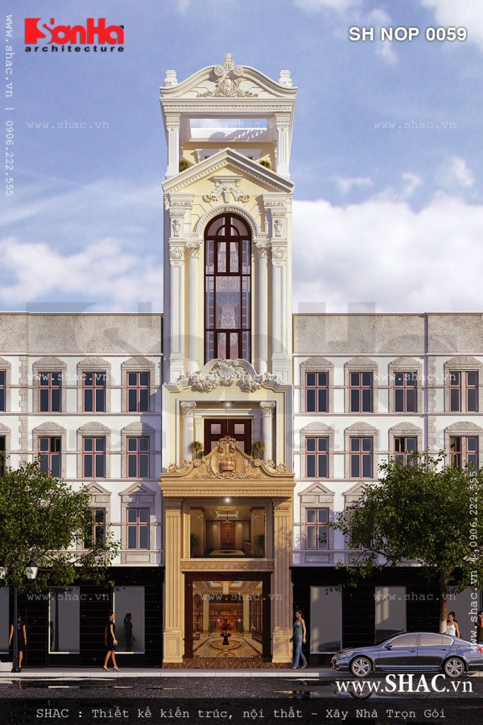 Nhà phố kiểu Pháp mặt tiền 4m50