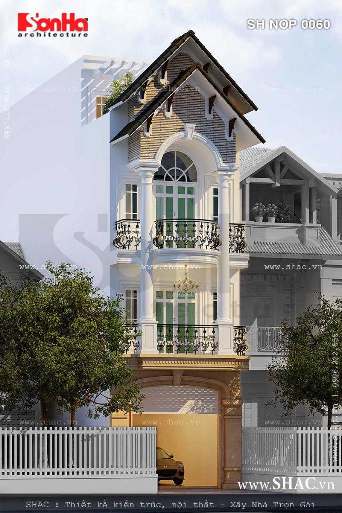 Cốt cách sang trọng và nét thanh nhã của mẫu thiết kế nhà phố mặt tiền 5m cổ điển