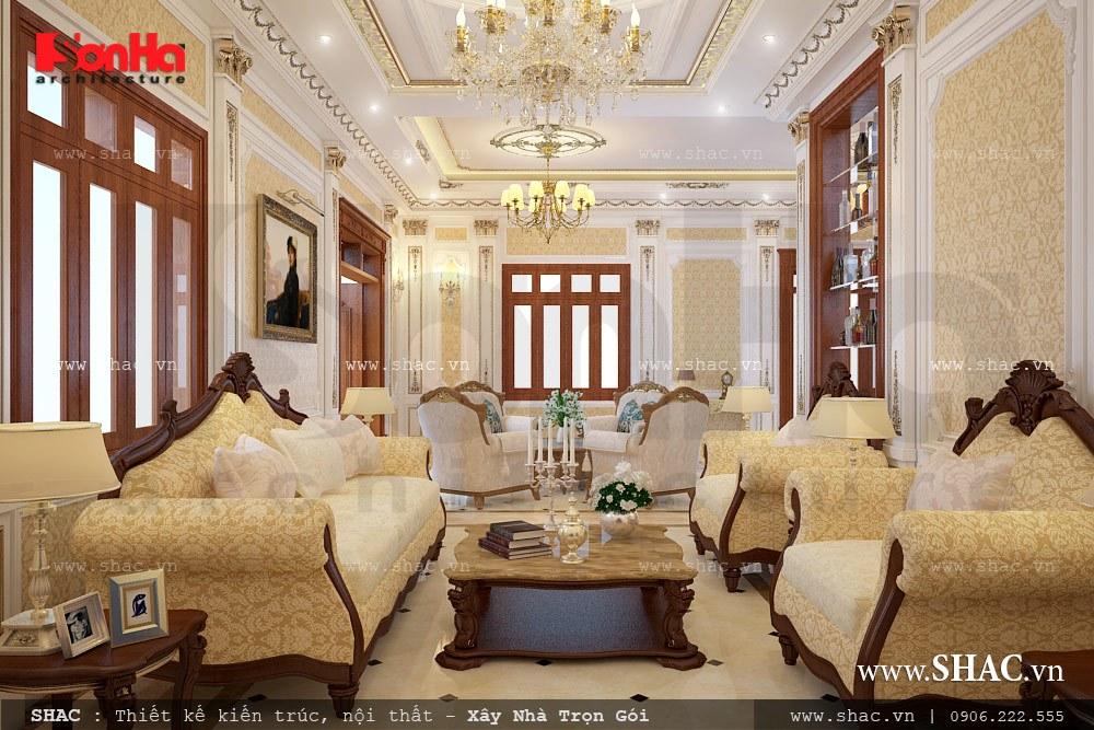 Phòng khách biệt thự sang trọng và đẳng cấp