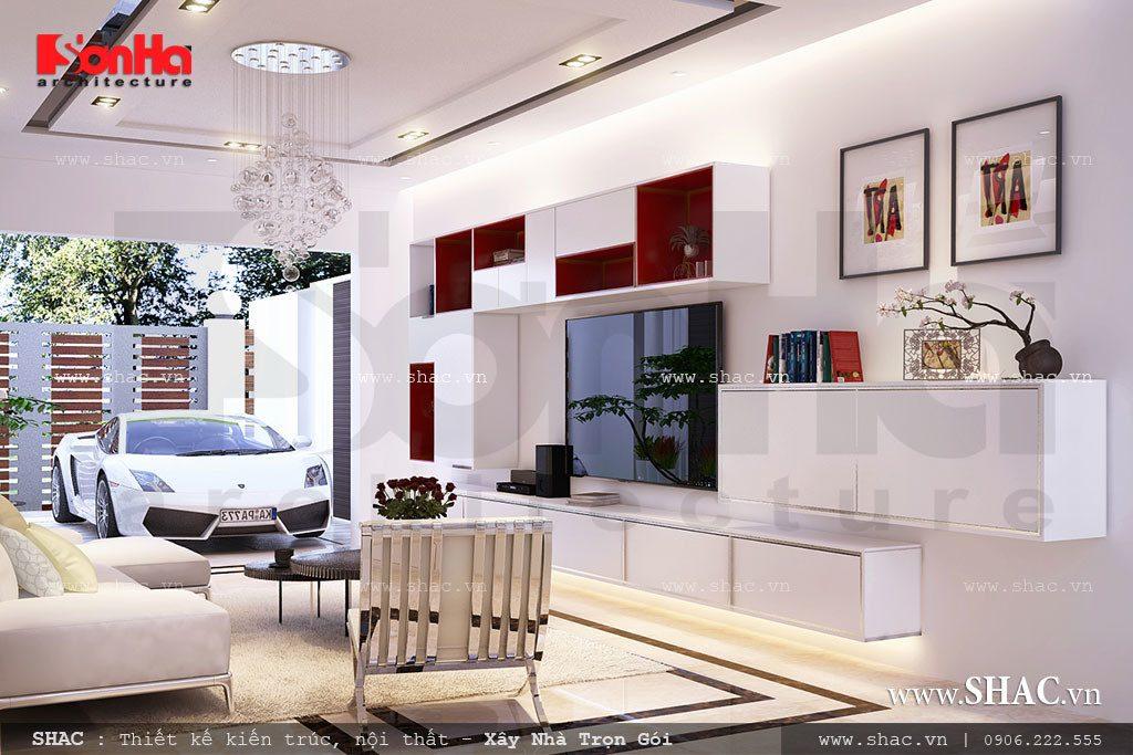 Phòng khách hiện đại và sang trọng