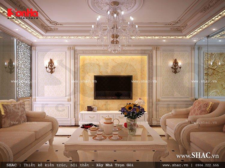 Phòng khách Pháp đẹp