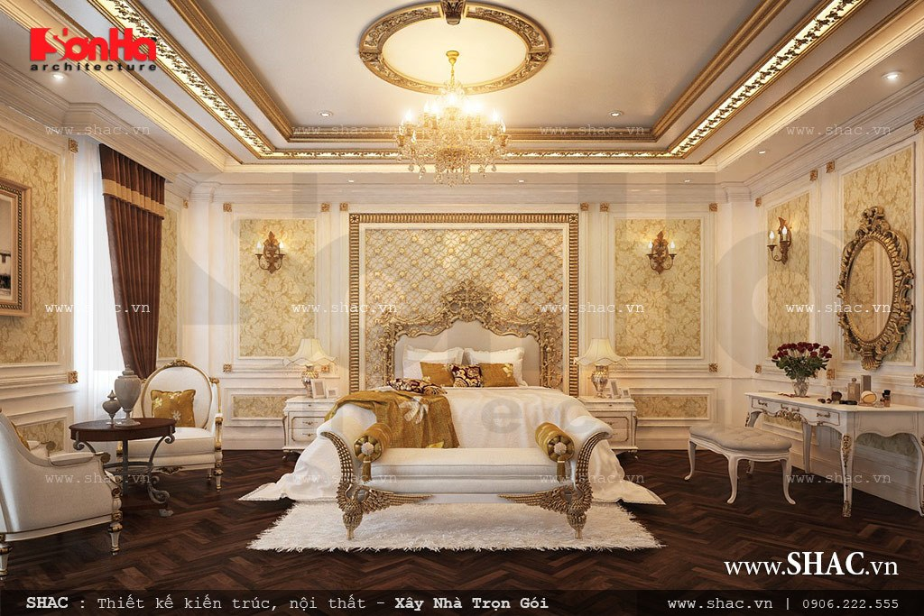 Phòng ngủ kiểu Pháp đẹp