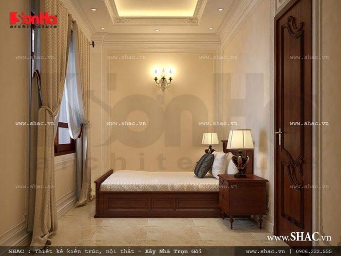 Phòng ngủ dành cho người giúp việc có thiết kế đơn giản nhưng tiện nghi