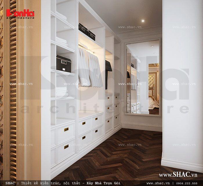 Thiết kế phòng thay đồ ngăn nắp tiện nghi trong không gian phòng ngủ
