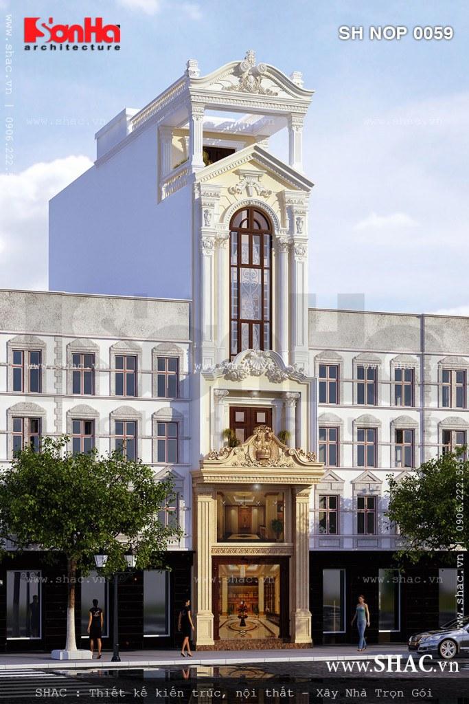 Nhà ống kiến trúc Pháp