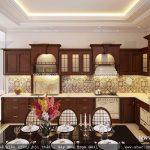 Thiết kế tủ bếp bằng gỗ đẹp