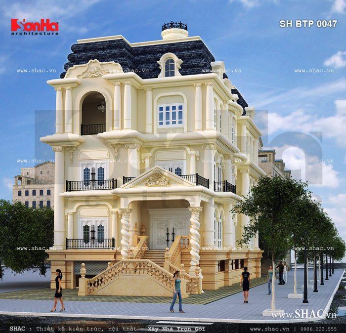 Biệt thự kiểu Pháp 4 tầng