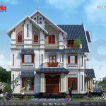 Biệt thự 3 tầng mái chéo phong cách tân cổ điển đẹp Mẫu biệt thự 3 tầng kiến trúc pháp nhẹ nhàng