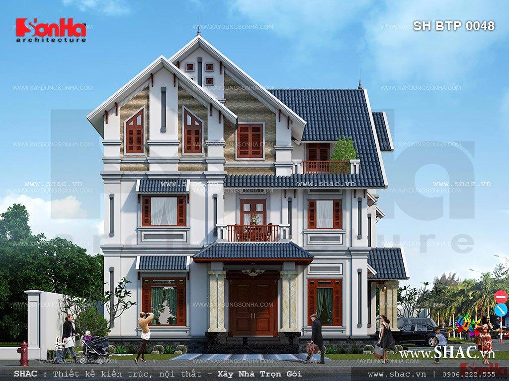 Biệt thự 3 tầng tân cổ điển mái ngói đẹp - SH BTP 0048 4