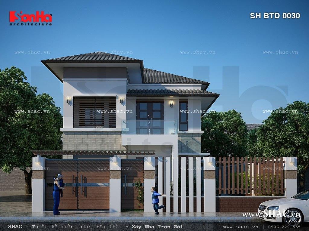 Thiết kế biệt thự hiện đại 2 tầng đẹp