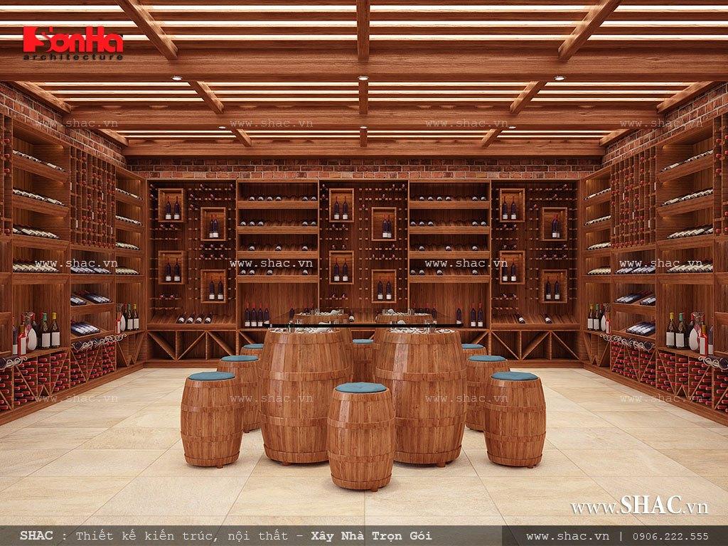 thiết kế hầm rượu biệt thự lâu đài; thiet ke khu de ham ruou biet thu lau dai tai binh duong