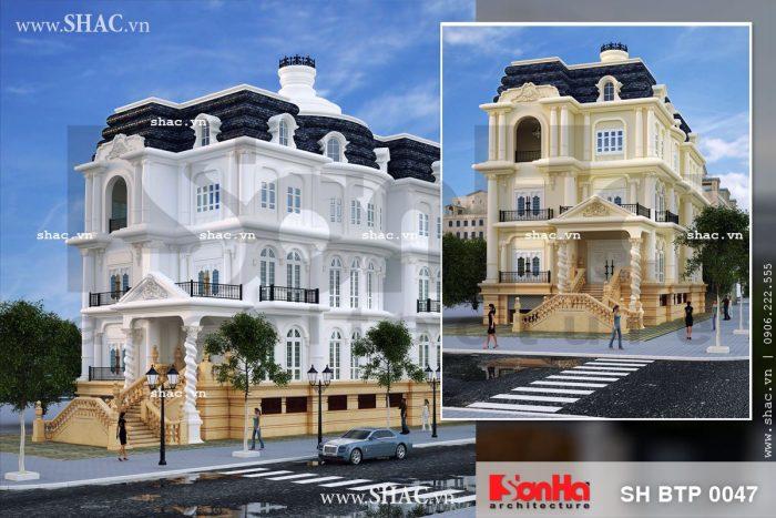 Mẫu thiết kế biệt thự kiến trúc Pháp cổ điển 4 tầng tiện nghi mang thương hiệu SHAC giàu bản sắc
