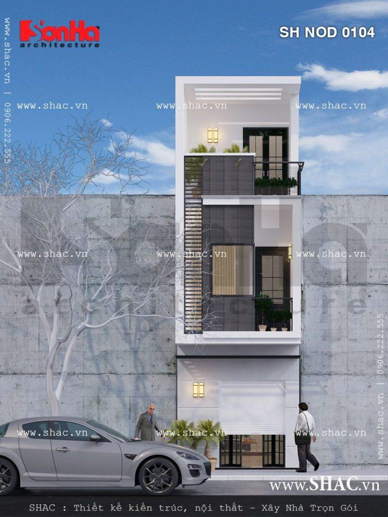 Nhà lô phố có mặt tiền nhỏ 3 tầng