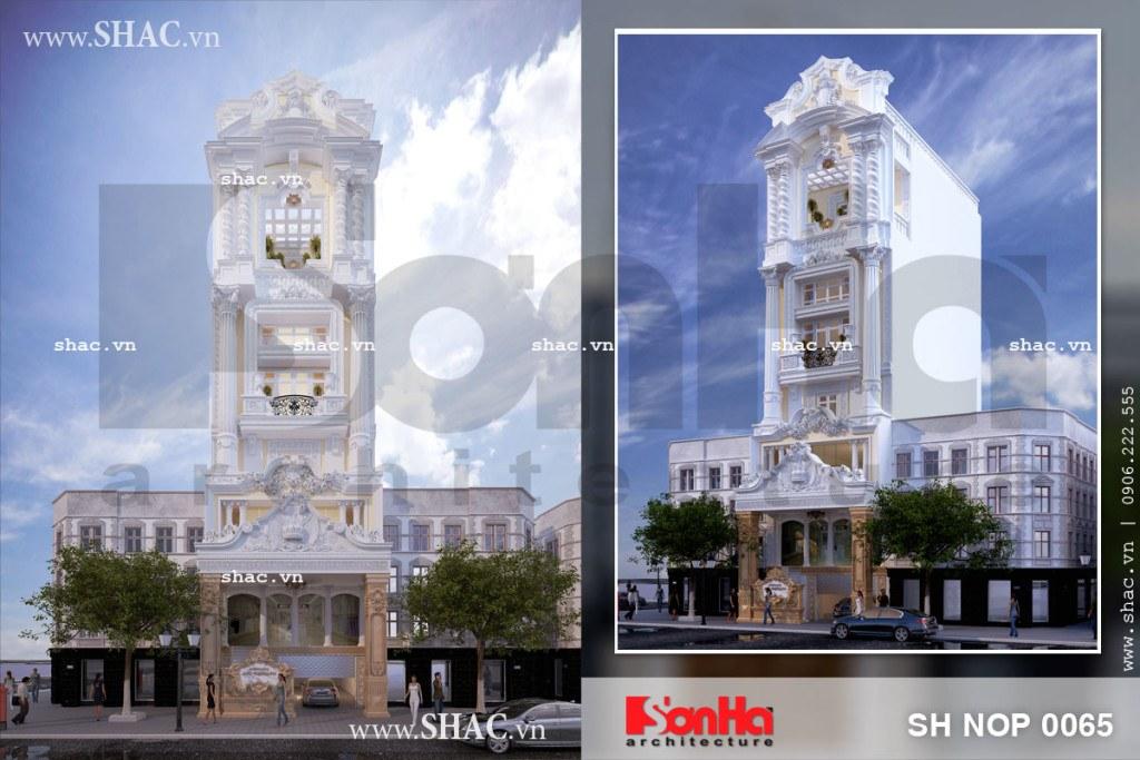 Tổng hợp các góc view mẫu thiết kế nhà phố phong cách cổ điển tiện ngh 5m mặt tiền