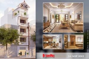 Nhà phố 5 tầng kiến trúc pháp mặt tiền 4m50