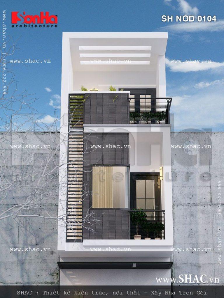 Mẫu thiết kế nhà phố kiến trúc hiện đại 3 tầng