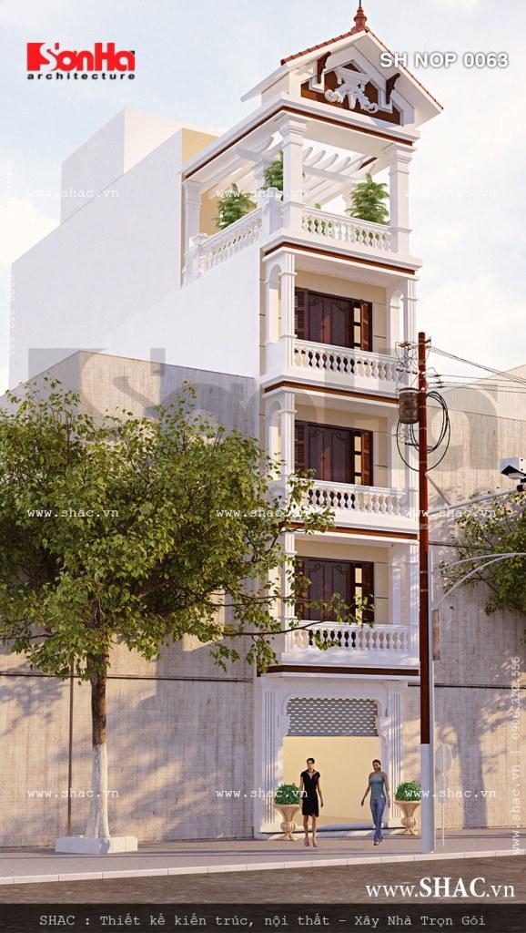 Nhà phố kiến trúc Pháp 5 tầng