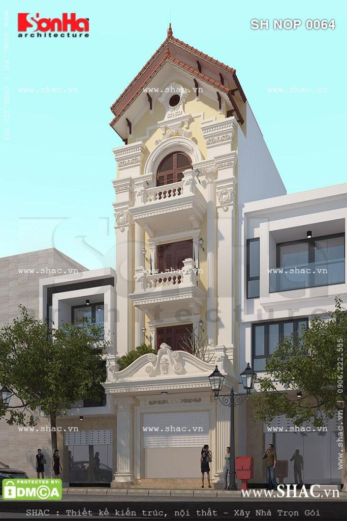 Kiến trúc nhà phố kiểu Pháp chinh phục mọi ánh nhìn
