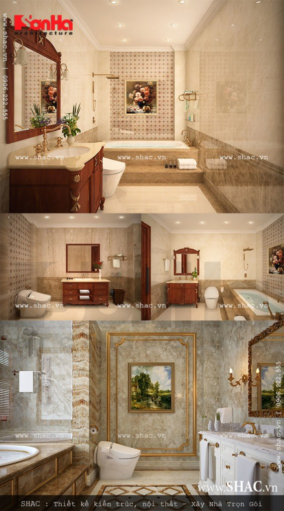 Nội thất các phòng wc