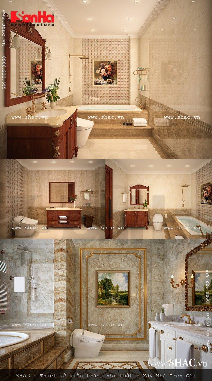 thiết bị vệ sinh và phòng tắm biệt thự lâu đài; thiet bi ve sinh, phong tam biet thu lau dai 5 tang