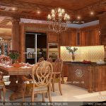 Nội thất gỗ phòng ăn sang trọng