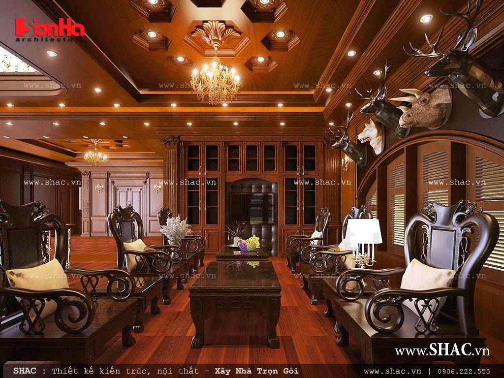 phòng khách được làm bằng gỗ đẹp nhất hiện nay