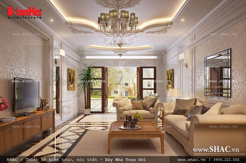 Phòng khách sang trọng theo phong cách Pháp