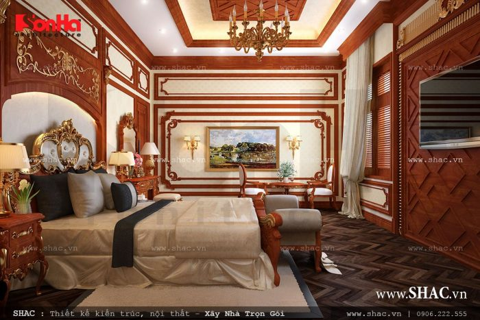Phòng ngủ sử dụng gỗ ốp đẹp