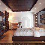 Thiết kế phòng ngủ lãng mạn cho nhà ống