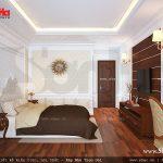 phòng ngủ 1 với sàn gỗ thoáng mát