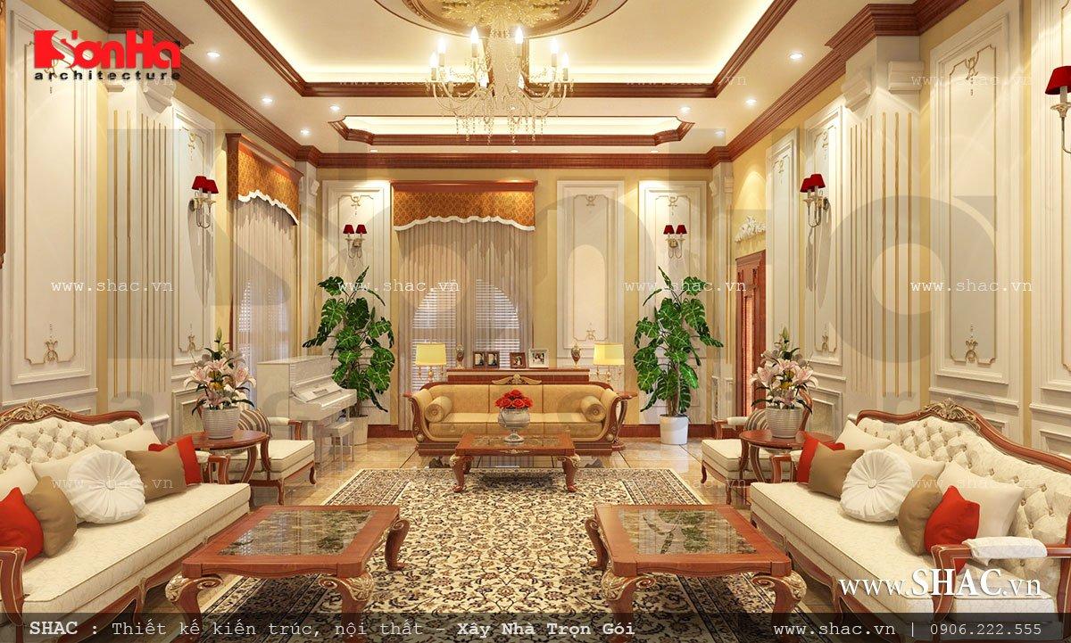 thiết kế nội thất phòng sinh hoạt chung; thiet ke noi that phong sinh hoat chung biet thu lau dai