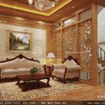 Phòng sinh hoạt chung sử dụng gỗ