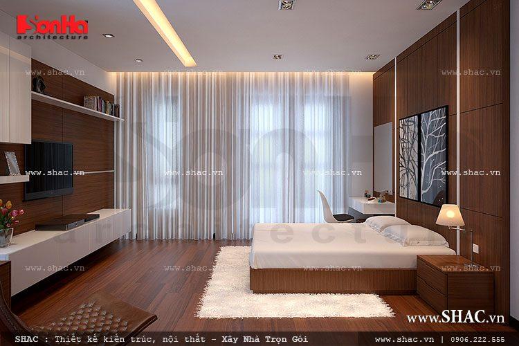 Không gian phòng ngủ sẽ trở nên thoáng đãng hơn với thiết kế hướng ban công rộng