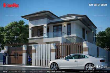 Thiết kế biệt thự 2 tầng kiến trúc hiện đại
