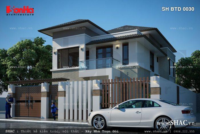 Mẫu thiết kế biệt thự 2 tầng kiến trúc hiện đại tại Quảng Ninh trong số 25 biệt thự đẹp và độc 2017