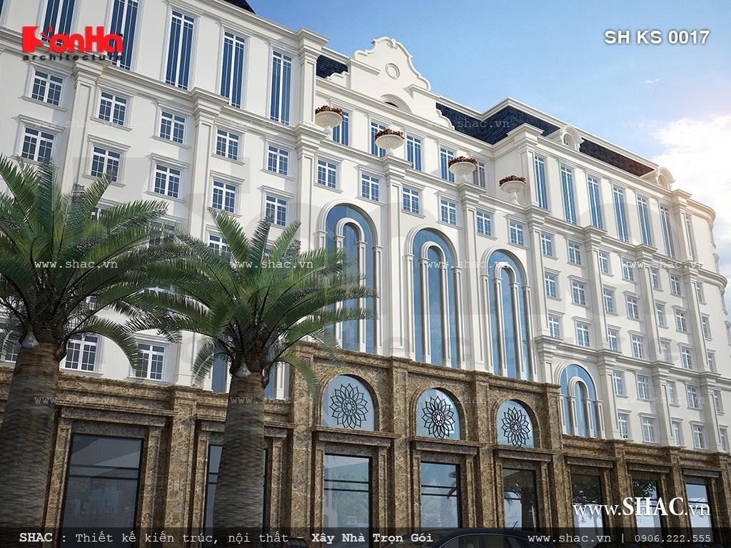 Thiết kế khách sạn sang trọng kiến trúc pháp