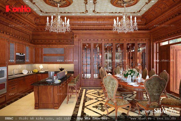 Thiết kế phòng bếp cổ điển