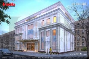 bản thiết kế nhà hàng tiệc cưới 3 tầng tại Hà Nội
