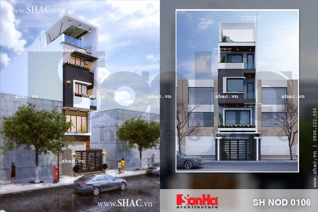 Mẫu thiết kế nhà phố 5m mặt tiền đẹp