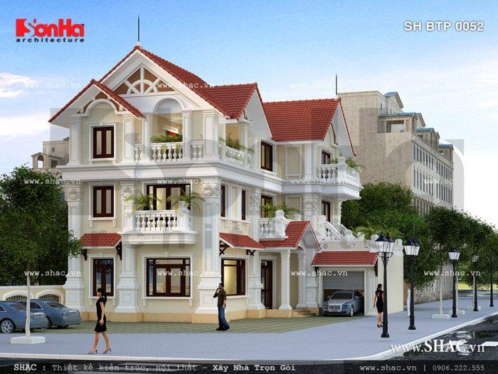 Kiến trúc của ngôi biệt thự phong cách hiện đại được làm nổi bật nhờ sự kết hợp tinh tế đường nét