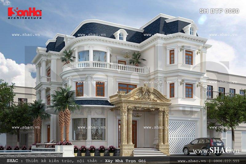 Biệt thự 3 tầng kiến trúc pháp độc đáo