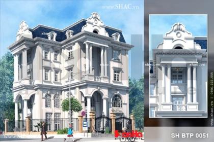 Mẫu biệt thự 4 tầng kiến trúc pháp cổ điển