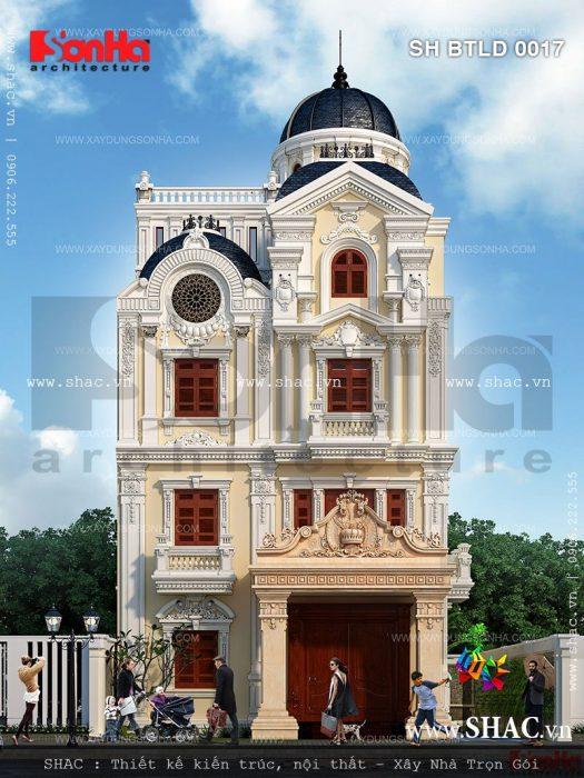 Biệt thự lâu đài cổ điển kiểu pháp đẹp