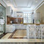 Khu nhà bếp với nội thất tiện nghi