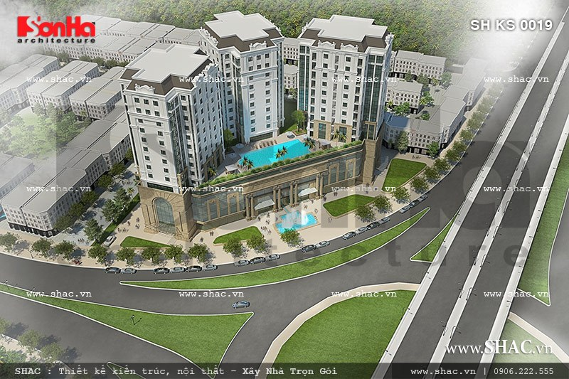 Khu thương mại và khách sạn Thiết kế trung tâm thương mại Nam sông Lạch Tray