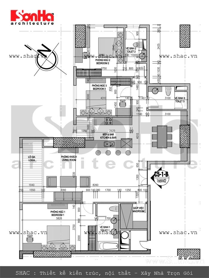Mặt bằng công năng của căn hộ chung cư