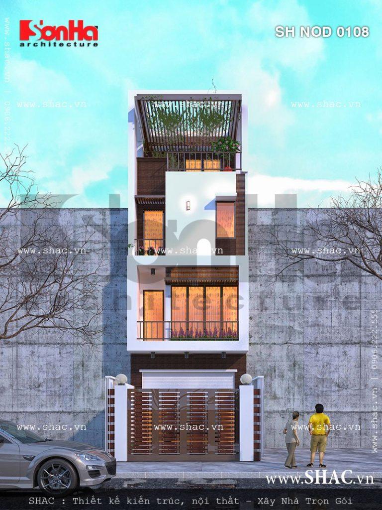 Nhà phố hiện đại mặt tiền 5m diện tích 80m2
