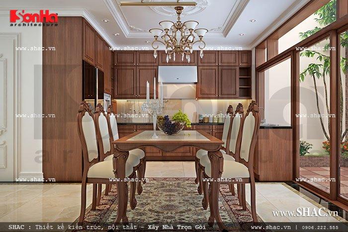 Nội thất gỗ phòng bếp ăn